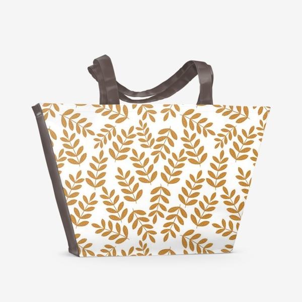 Пляжная сумка «Золотые листья папоротника»