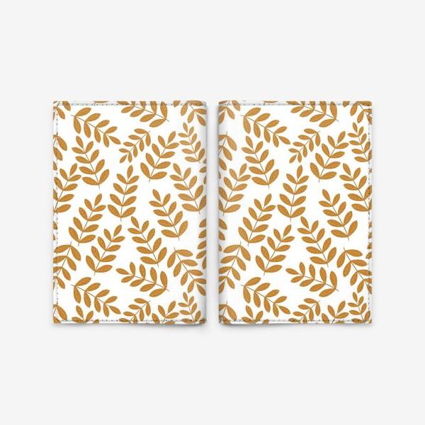 Обложка для паспорта «Золотые листья папоротника»