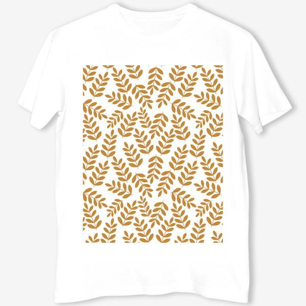 Футболка «Золотые листья папоротника»