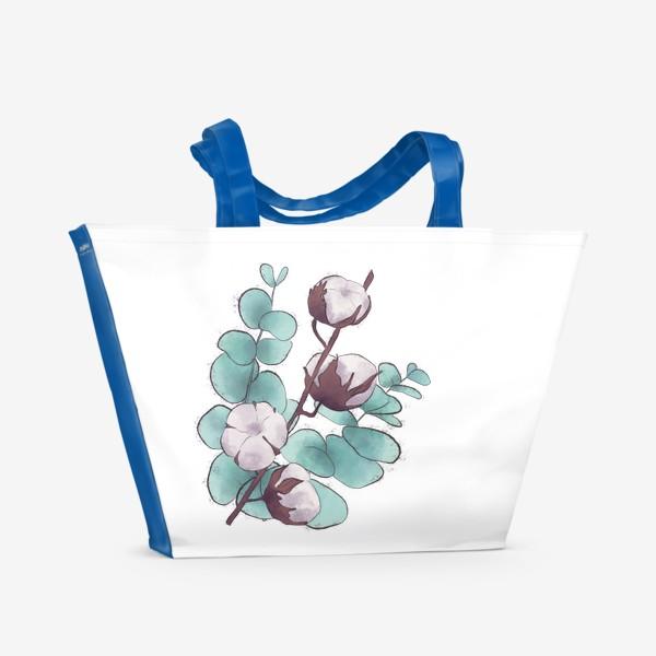 Пляжная сумка «цветы»