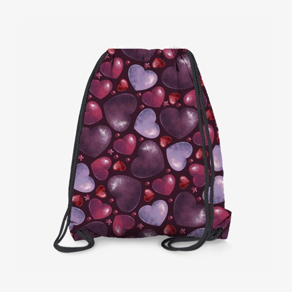 Рюкзак «паттерн сердца на темном фоне»