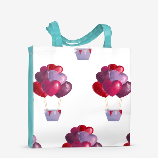 Сумка-шоппер «паттерн воздушные шары»