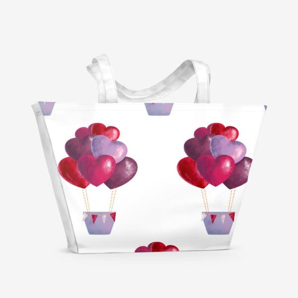 Пляжная сумка «паттерн воздушные шары»