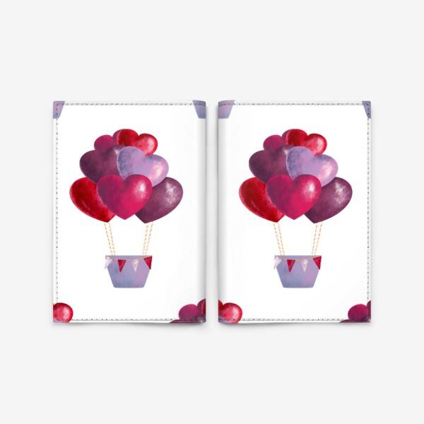Обложка для паспорта «паттерн воздушные шары»