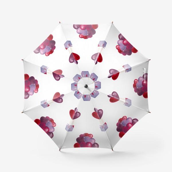 Зонт «паттерн воздушные шары»