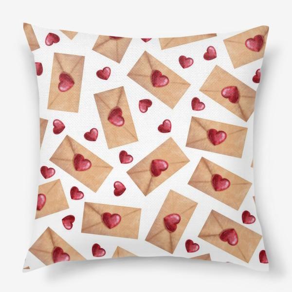 Подушка «паттерн любовные письма»
