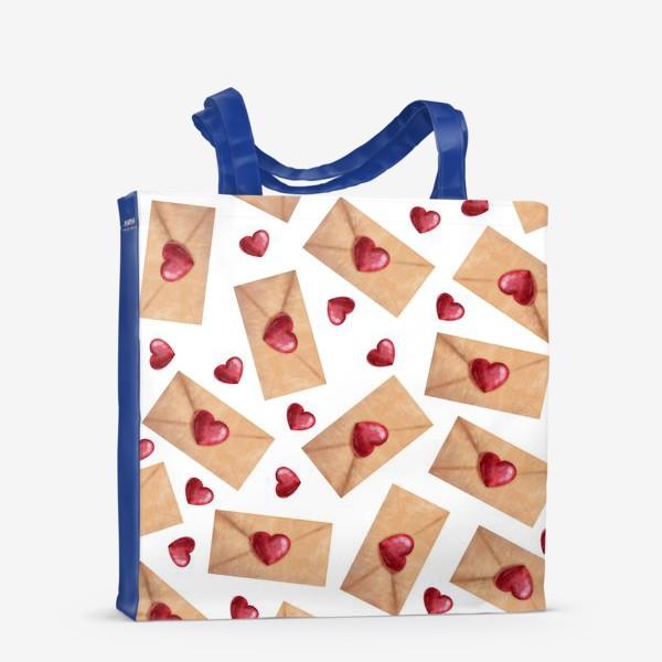 Сумка-шоппер «паттерн любовные письма»