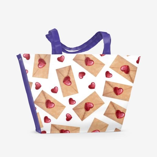 Пляжная сумка «паттерн любовные письма»