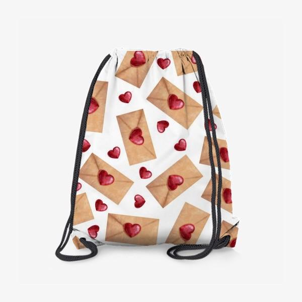 Рюкзак «паттерн любовные письма»