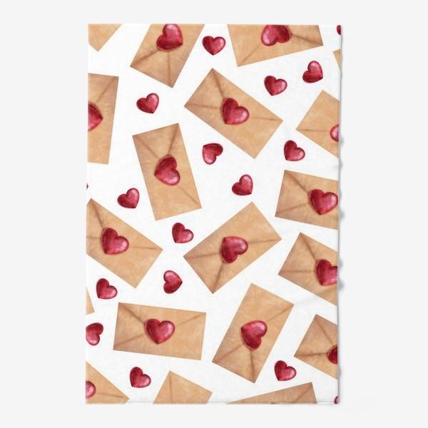 Полотенце «паттерн любовные письма»