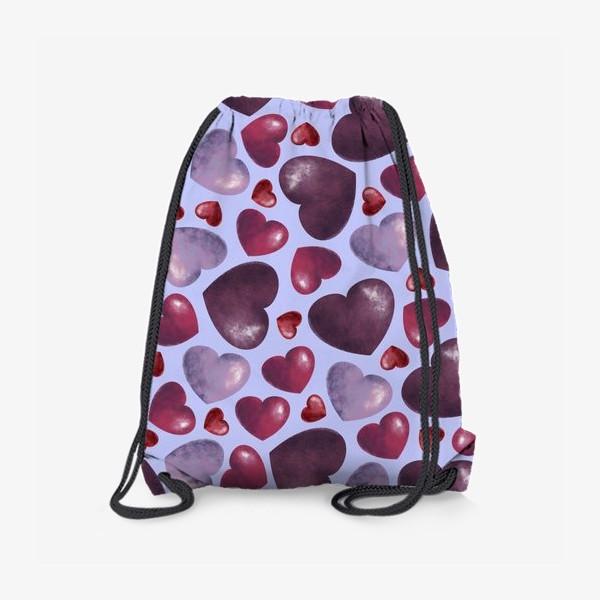 Рюкзак «паттерн сердца на сиреневом фоне»