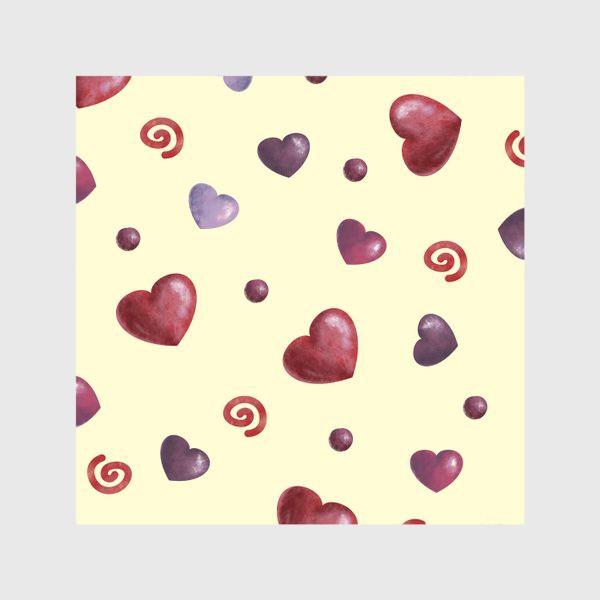 Скатерть «паттерн сердечки»