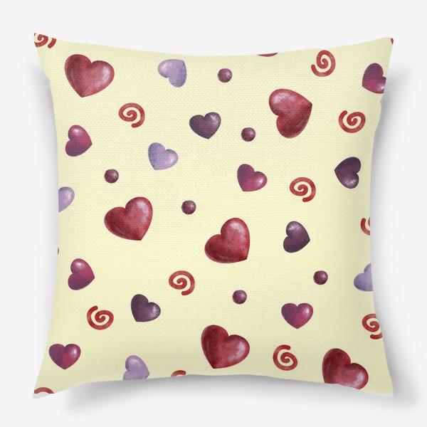 Подушка «паттерн сердечки»