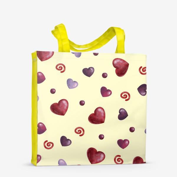 Сумка-шоппер «паттерн сердечки»