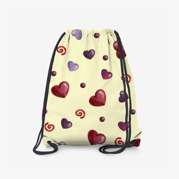 Рюкзак «паттерн сердечки»