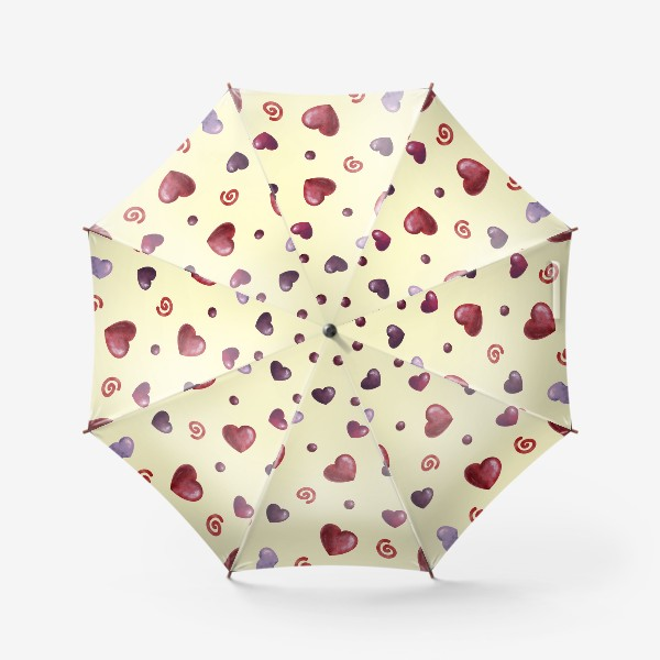 Зонт «паттерн сердечки»