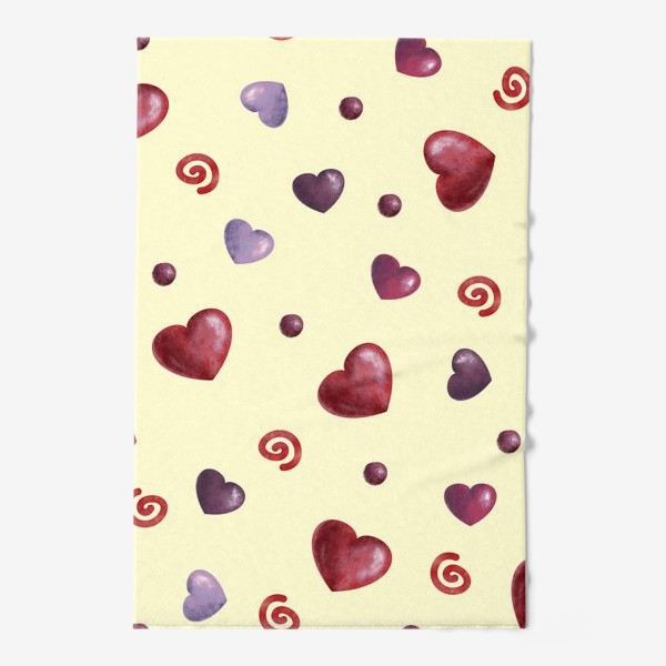Полотенце «паттерн сердечки»