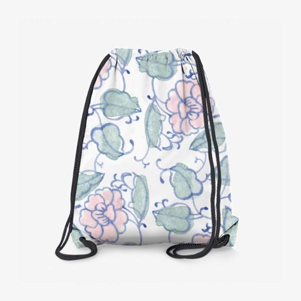 Рюкзак «Цветочный винтажный орнамент»