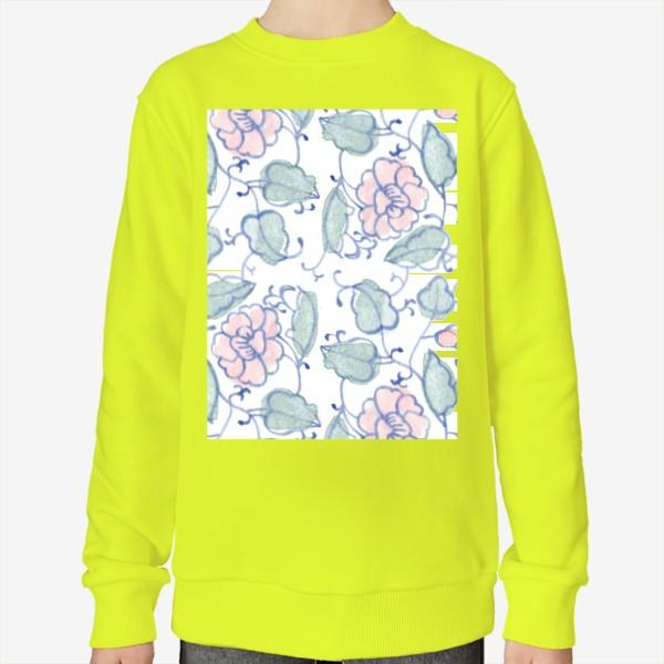 Свитшот «Цветочный винтажный орнамент»