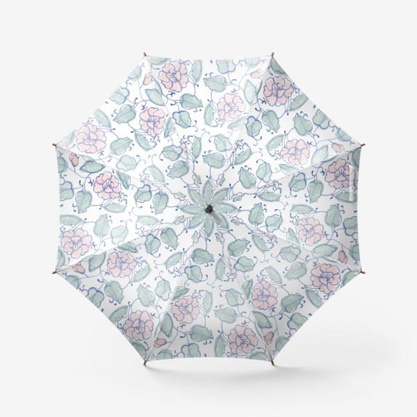 Зонт «Цветочный винтажный орнамент»