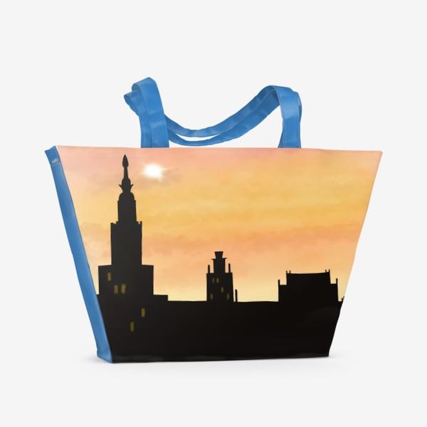 Пляжная сумка «Восход в городе»