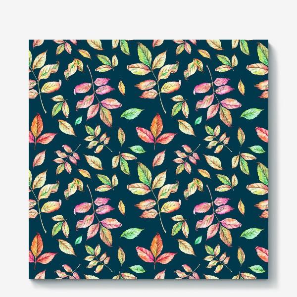 Холст «Акварельные осенние листья 4»