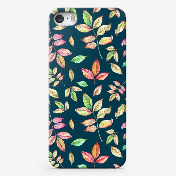 Чехол iPhone «Акварельные осенние листья 4»