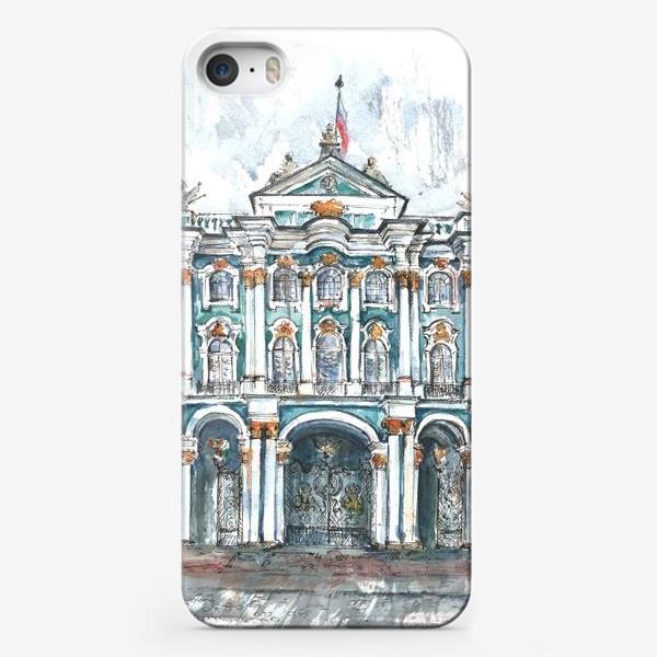 Чехол iPhone «Эрмитаж, Санкт-Петербург. Акварельный скетч»