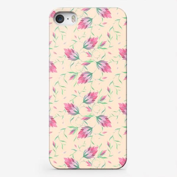 Чехол iPhone «Милые цветы на вьющихся веточках»