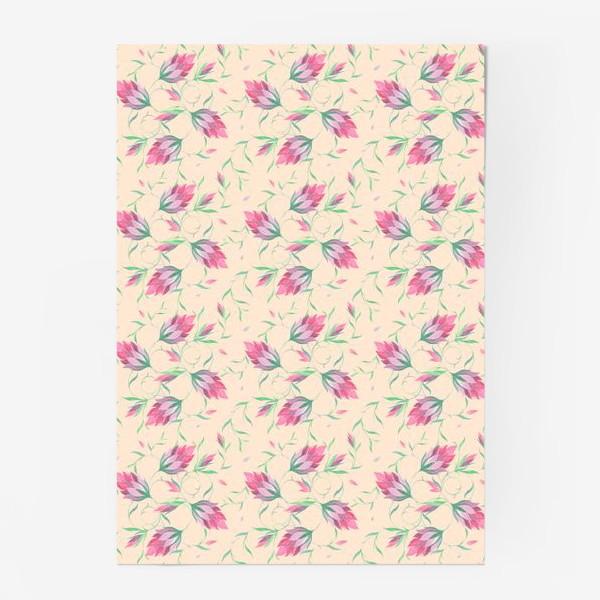 Постер «Милые цветы на вьющихся веточках»