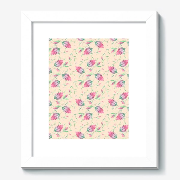 Картина «Милые цветы на вьющихся веточках»