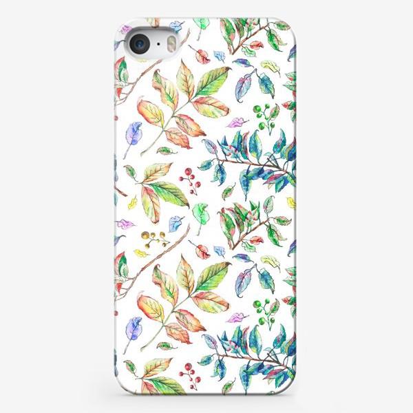 Чехол iPhone «Акварельные осенние листья 2»