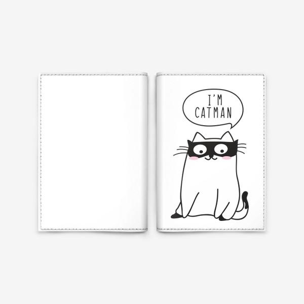 """Обложка для паспорта «I""""m CATMAN»"""