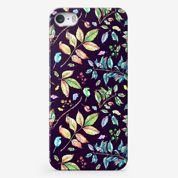 Чехол iPhone «Акварельные осенние листья 3»