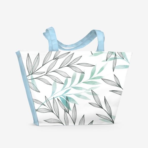 Пляжная сумка «Цветочный паттерн»