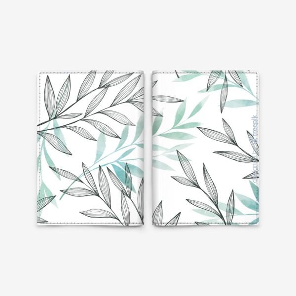 Обложка для паспорта «Цветочный паттерн»