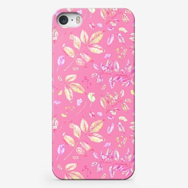 Чехол iPhone «Акварельные осенние листья 5»
