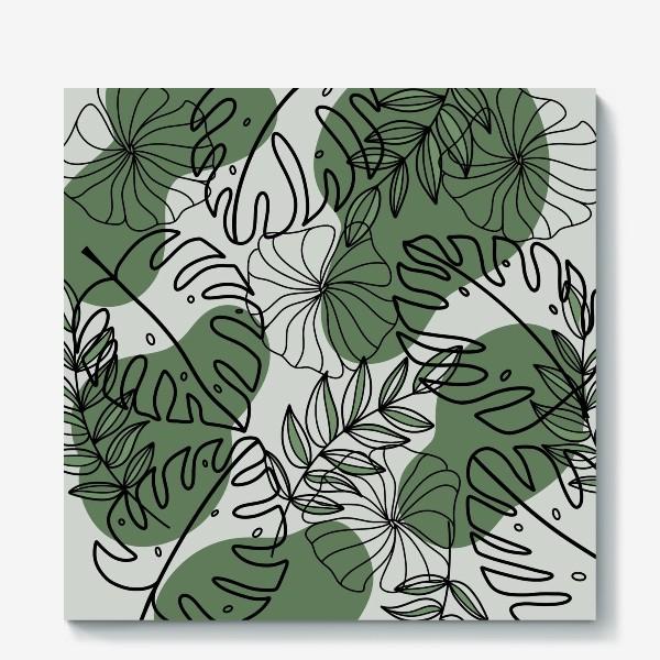 Холст «Паттерн Растения»