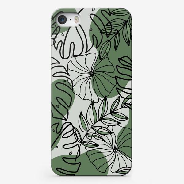 Чехол iPhone «Паттерн Растения»