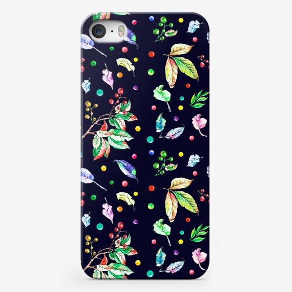 Чехол iPhone «Акварельные осенние листья 9»