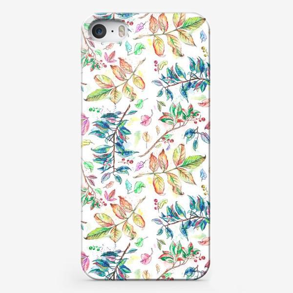 Чехол iPhone «Акварельные осенние листья »
