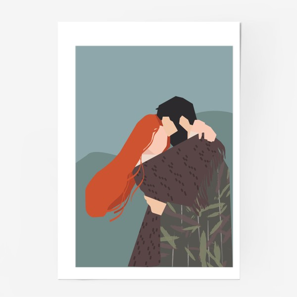 Постер «влюбленные»