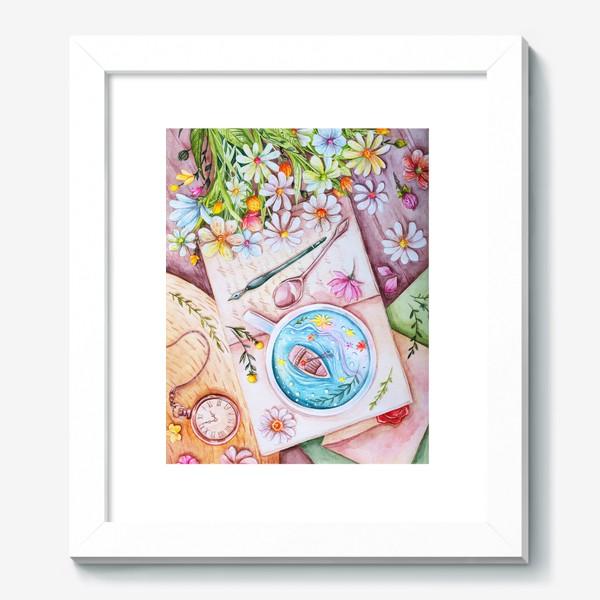Картина «Весенние мечты. Акварель»
