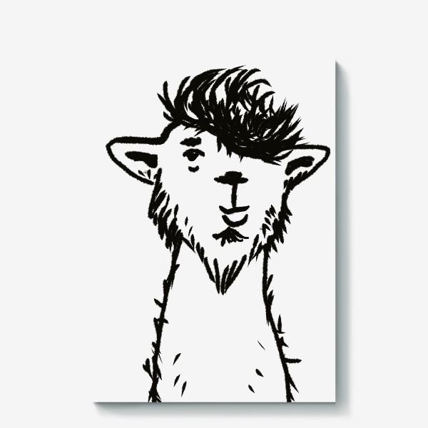 Холст «лама. альпака»