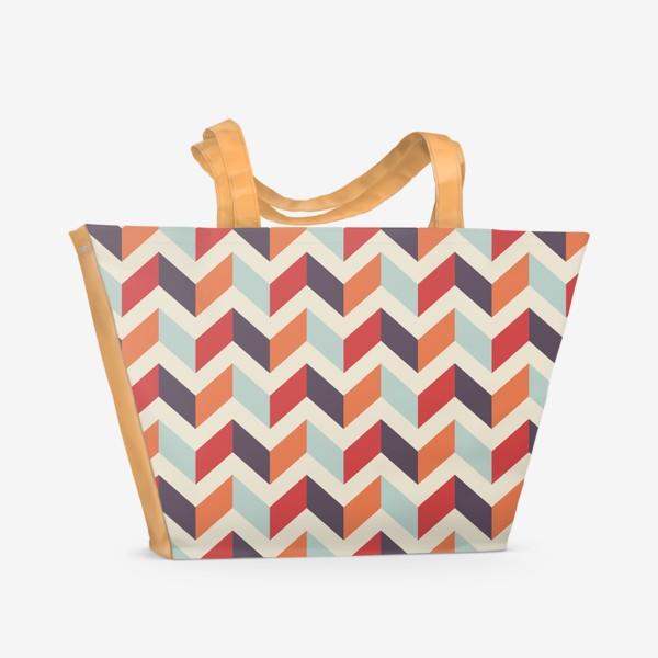 Пляжная сумка «Геометрический паттерн»