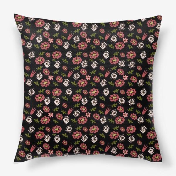 Подушка «Паттерн садовые цветы»