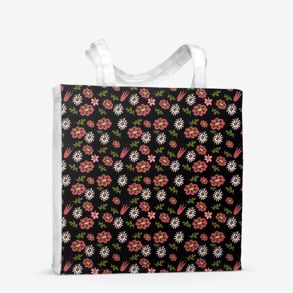 Сумка-шоппер «Паттерн садовые цветы»