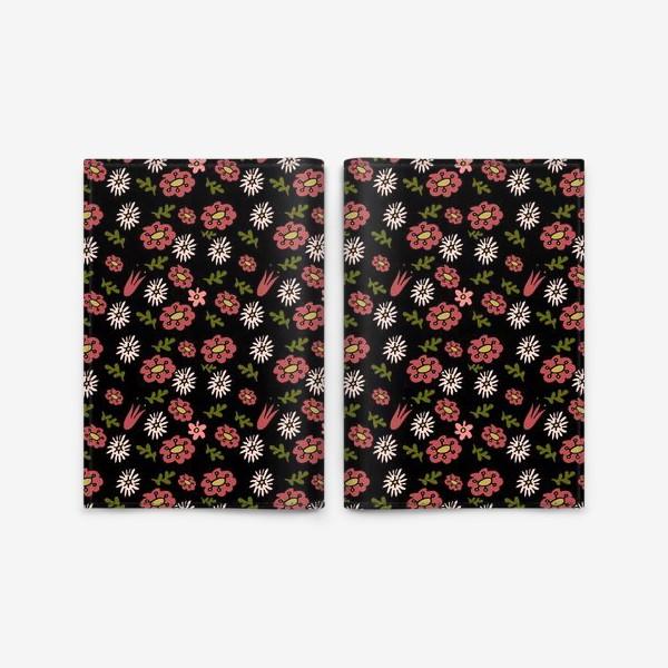 Обложка для паспорта «Паттерн садовые цветы»