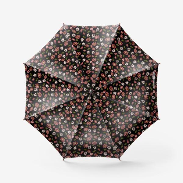 Зонт «Паттерн садовые цветы»