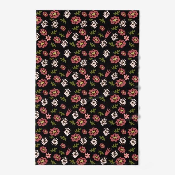 Полотенце «Паттерн садовые цветы»
